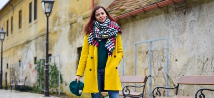 Stand out in yellow coat