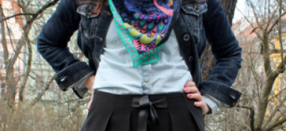 Black balloon skirt