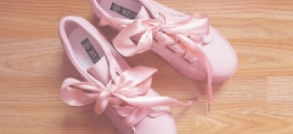 Zaful Pink Low Top Ribbon Sneakers