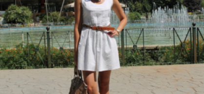 White dress and Tirana