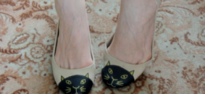 D.I.Y.: kitty cat flats