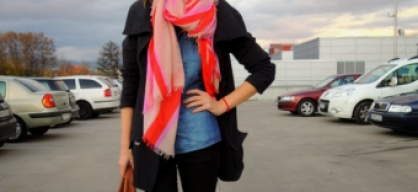 black and colorful scarf