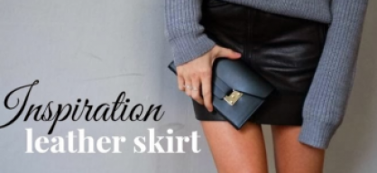 Inspiration - leather skirt