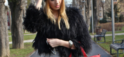 Fake fur outfit