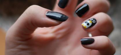 Penguin on my nails